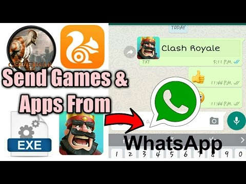 whatsapp se games apps files kaise send kare new whatsapp trick 2017
