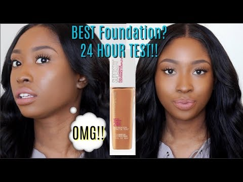 NEW Maybelline Superstay Full Coverage 24 HR Foundation REVIEW & 24 HR WEAR TEST | First Impressions
