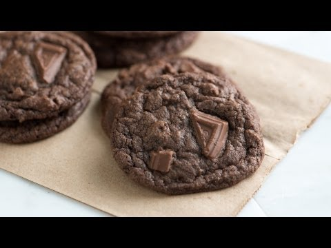 Easy, Chewy Double Chocolate Cookies Recipe - How to Make Homemade Chocolate Cookies
