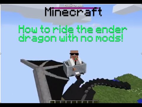 Minecraft: How To ride the Ender Dragon With No mods!!(1.7 and 1.8.3)