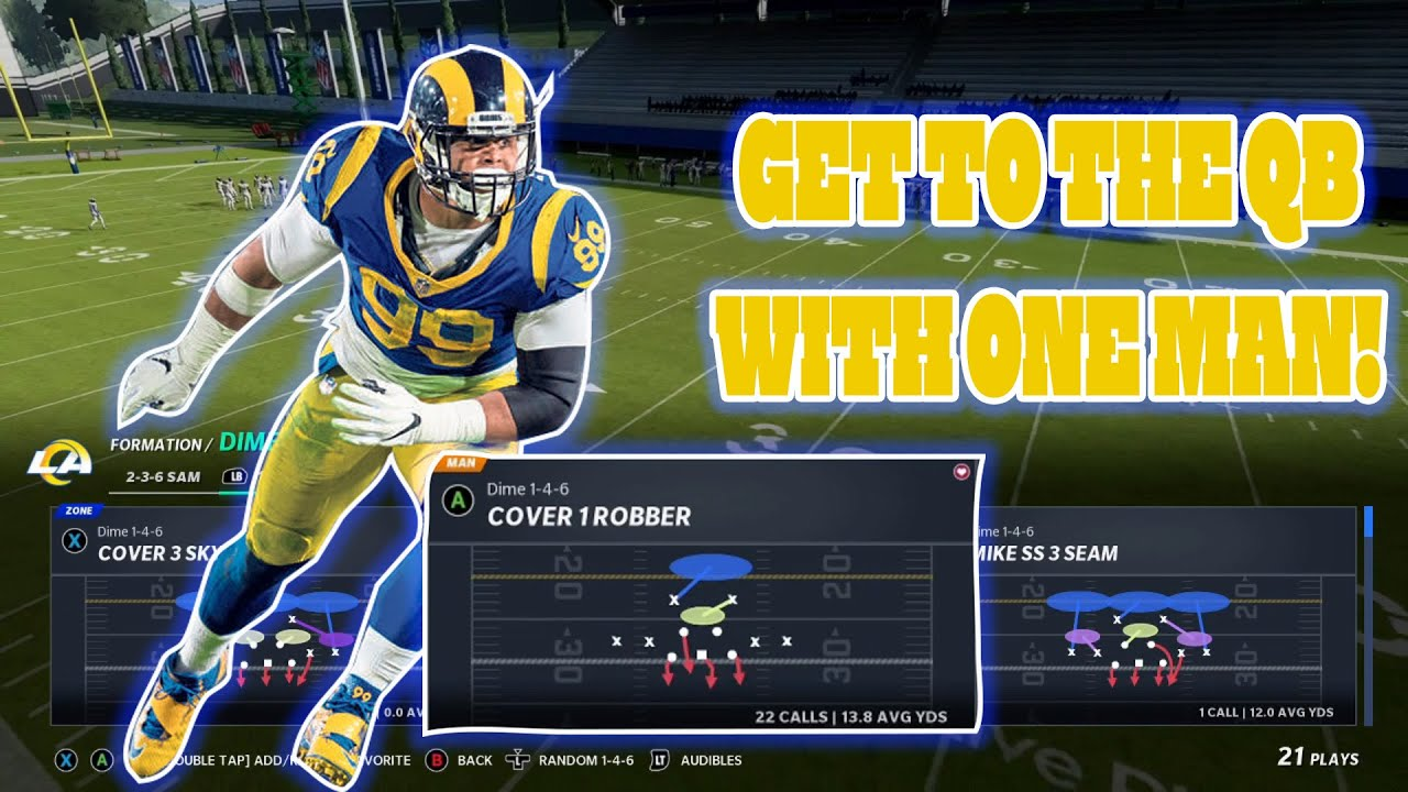 Madden 21 Get to the QB with ONE man! Works on both gens!