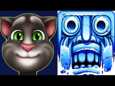 My Talking Tom Vs.Temple Run 2 Frozen Exploration Ended In One Run*Gameplay make for Kid #306