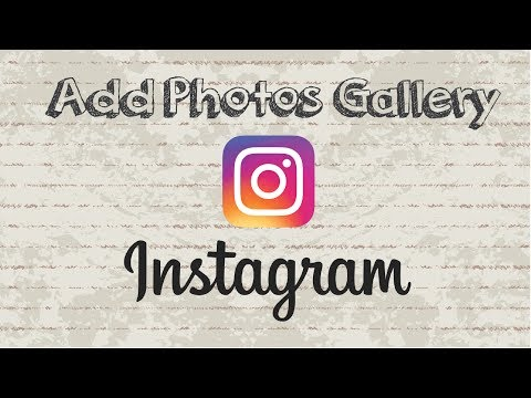 How to add photos from gallery to Instagram story