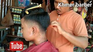 How to Haircut for student , tutorial by khmer barber