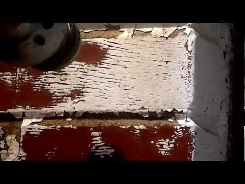 Paint removal from brick using baking soda as the media