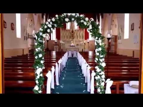Elegant Church decor HIRE www.weddingdecorations.mozello.com
