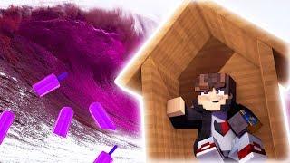 Minecraft: DESAFIO DE BASE 100% SEGURA CONTRA MEGA TSUNAMI DE SORVETE  ‹ JUAUM ›