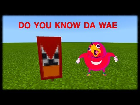Minecraft PE | How to Make Ugandan Knuckles Banner