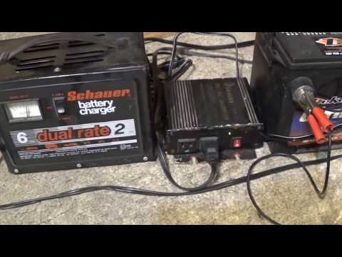 Free120v Electricity Using a Car Battery,Battery Charger,and 300w DC-AC Power Inverter Part:2