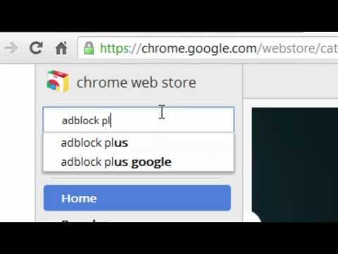 How To Enable: AdBlock Plus on Google Chrome