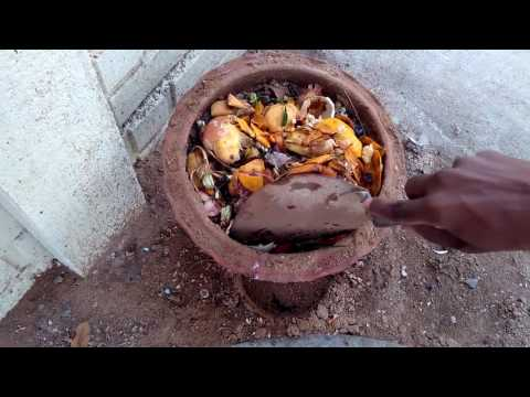 Kitchen waste to organic natural manure in tamil