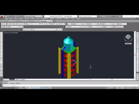 Autocad 2014 water tower