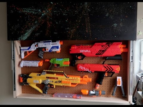 DIY Secret Nerf Storage Wall