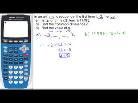 Arithmetic Sequence, find d and n