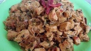 وجبة عشاء سريعة وسهلة التحضير طبخ مكعبات الديك الرومي بالبصل