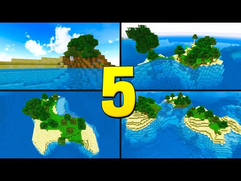 TOP 5 SURVIVAL ISLAND SEEDS FOR MINECRAFT 1.12! (Best Seeds for Minecraft PC, Java Edition)