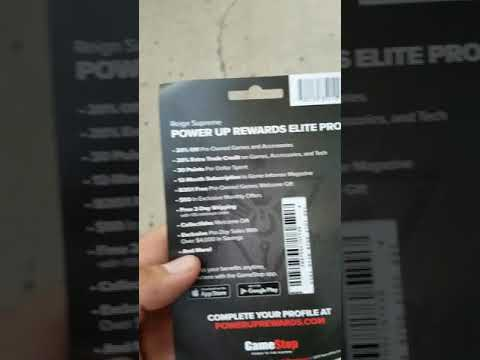Signed up for an Elite pro game stop card, let's see what it can do