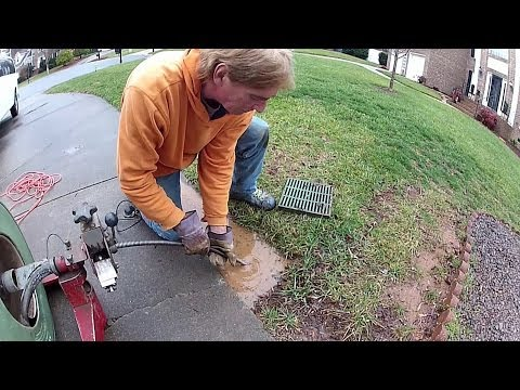 How To Clean Drain Under Driveway, By Apple Drains