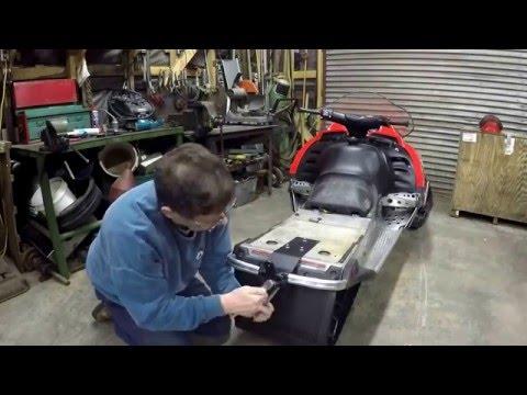 Building a snowmobile sleigh hitch