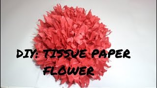 Its all about craft videos diy tissue paper flower roo mightylinksfo