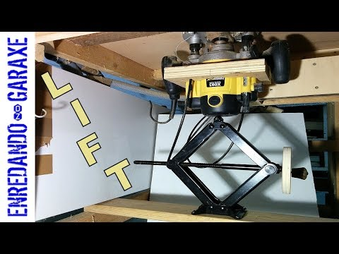 The simplest router table lift