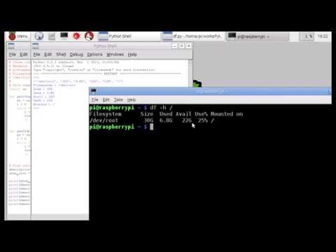 Python get file system disk space usage, on Raspberry Pi