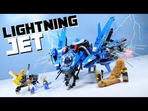 LEGO The Ninjago Movie Lightning Jet Jays Set Speed Build Review 70614