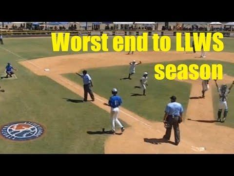 Horrible ending to LLWS baseball game  Season ending mistake in semifinals