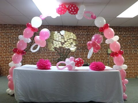 How to - Pink and White Baby Shower Link-O-Loon Balloon Pacifier Arch -Link a Loon