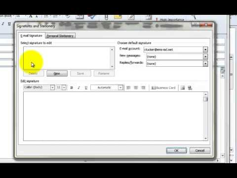 Adding an Image to your Email Signature in Outlook 2010
