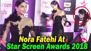 Nora Fatehi At Star Screen Awards 2018 | Red Carpet | Bollywood Awards 2018 Full Show || TBM