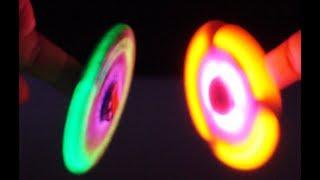 Amazing Tricks with Fidget Spinners! Lighting Spinners VS Standard Fidget Spinners!