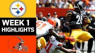 Steelers vs. Browns | NFL Week 1 Game Highlights