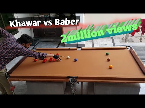 Home made snooker table.