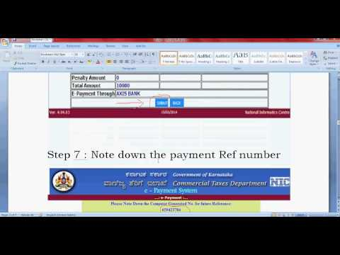 How to make online payment for Karnataka vat