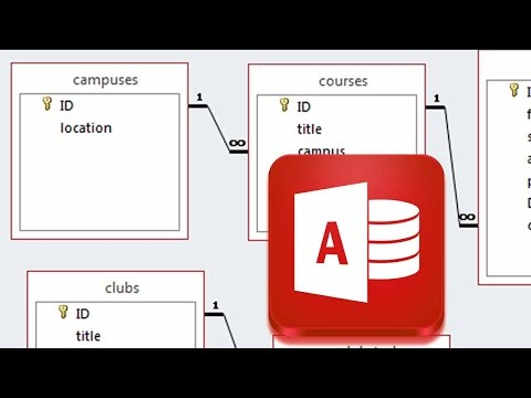 Expanding the Database - Another  One to Many Relationship - campuses table - Access 2013