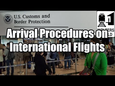 What is the Arrival Procedure on an International Flight?