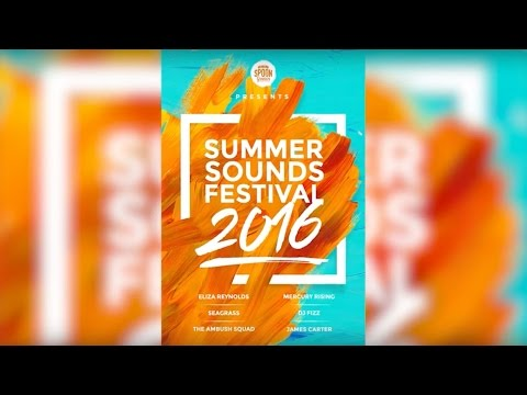 How to Design a Bright Summer Music Festival Poster: Photoshop Tutorial