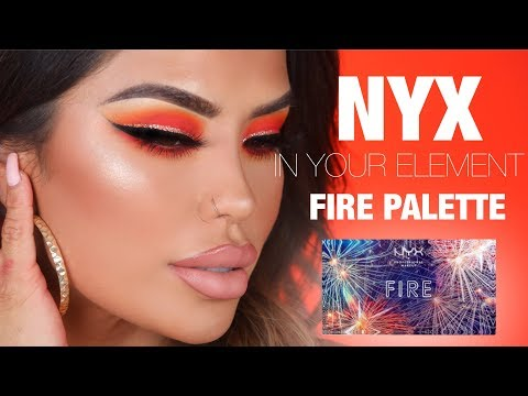 FLAMING HOT EYE TUTORIAL FEAT. NYX FIRE PALETTE | iluvsarahii