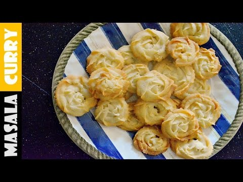 Eggless Butter Cookies | Melt in Mouth Cookies