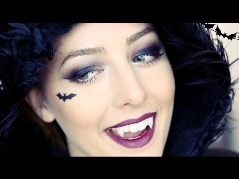 Cute Vampire Bat Halloween Makeup Tutorial! [Mostly Drugstore!]