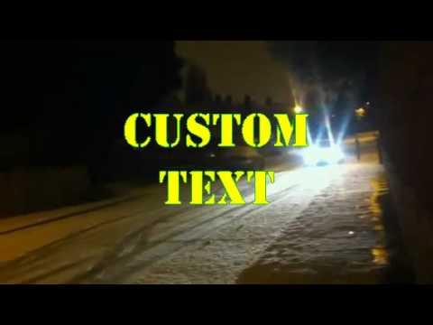 BMW sliding in snow