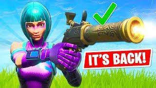 NEW UPDATE!! Flint-Knock Pistol is BACK!! (Fortnite Battle Royale)