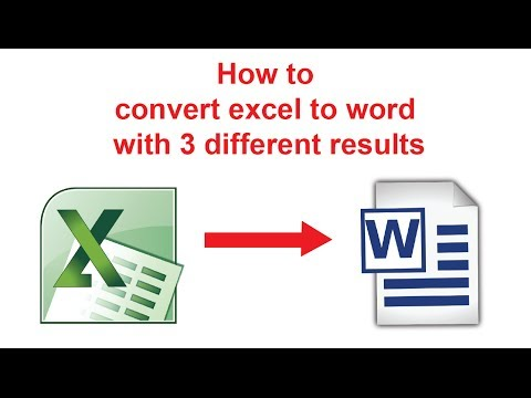 Convert EXCEL to WORD with 3 methods