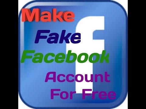 How To Make Fake Facebook Free In English