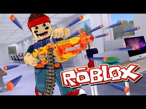 Roblox | KILLING PEOPLE WITH NERF GUNS? Nerf Wars Roblox! (Roblox Adventures)