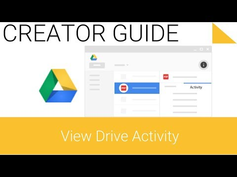 Google Drive Series - 5.2 - View Drive activity