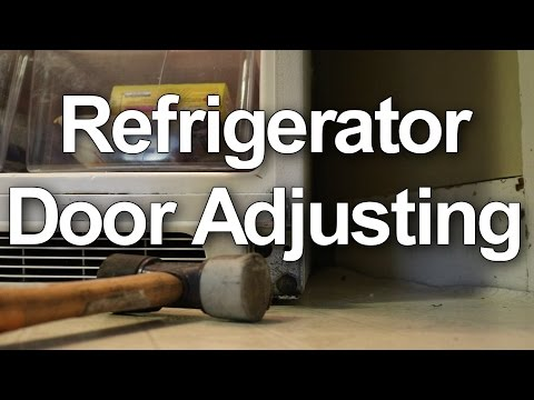 How to fix and adjust your refrigerator doors that will not close properly