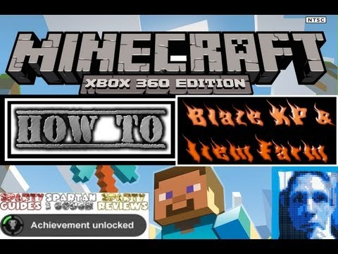 Minecraft Xbox 360 MAKING * Ethos Blaze XP Farm on PC * by Sparty on Xbox