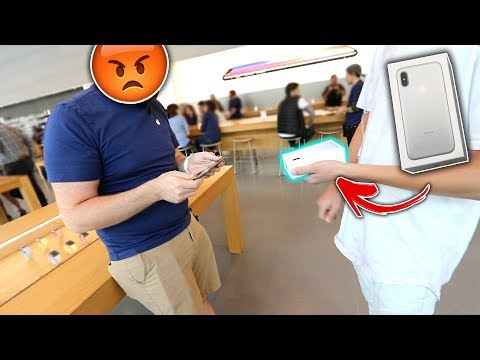 SELLING A FAKE iPhone X At Apple Store! | David Vlas